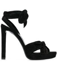 Saint Laurent Open Toe Sandals - Black