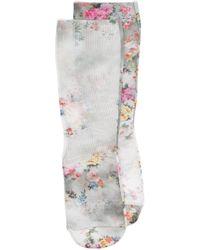 MSGM Сетчатые Носки С Цветочным Узором - Серый