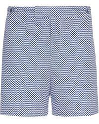 Frescobol Carioca Ca Slate Wavy Pattern Swim Shorts - Blue