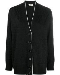 Fendi Кардиган С Вышитым Логотипом Ff - Черный