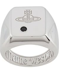Vivienne Westwood Перстень С Гравировкой - Металлик
