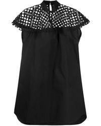 Sacai - メッシュパネル ドレス - Lyst