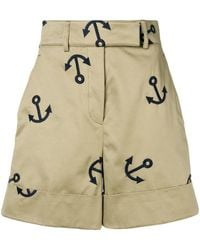Thom Browne Anchor Embroidery Short - Multicolor