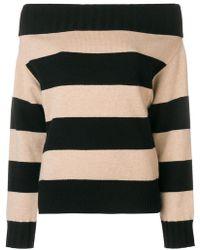 Dorothee Schumacher - Off Shoulder Striped Sweater - Lyst
