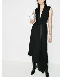 Alexander McQueen Платье Асимметричного Кроя - Черный