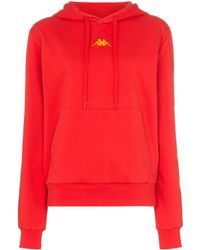 Charm's X Kappa Flame Print Stretch-cotton Hoodie - Red