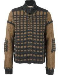 Al Duca d'Aosta - Check Knit Cardigan - Lyst