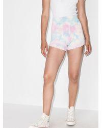 LoveShackFancy Shorts de punto Karissa con motivo tie-dye - Rosa