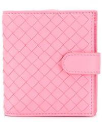 Bottega Veneta フラップ財布 - ピンク
