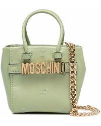 Moschino ロゴ ハンドバッグ - グリーン