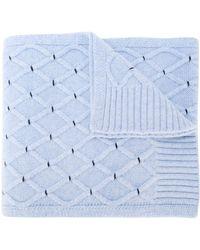 N.Peal Cashmere Gebreide Sjaal - Blauw