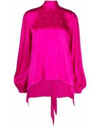 Pinko Bluse mit Ballonärmeln - Pink