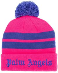 Palm Angels - Logo Stripe Beanie - Lyst
