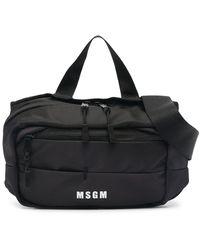 MSGM Logo-print Belt Bag - Black