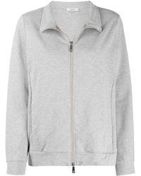 Peserico Front Zip Sweatshirt - Gray