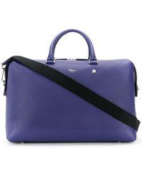 Mulberry City Weekender Heavy Grain Luggage Bag - Blue