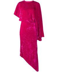 A.W.A.K.E. MODE アシンメトリー ベルベットドレス - ピンク
