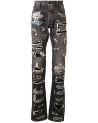Unravel Project - Patchwork-Jeans im Distressed-Look - Lyst