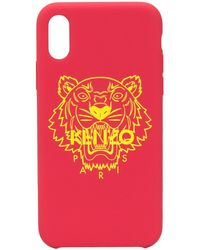 KENZO タイガー Iphone X/xs ケース - ピンク