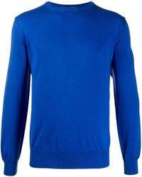 Canali Long-sleeve Fitted Jumper - Blue