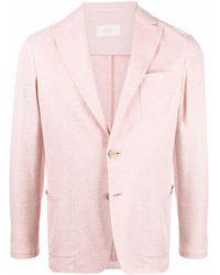 Altea ノッチドラペル シングルジャケット - ピンク