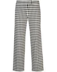 10 Crosby Derek Lam Gingham Flannel Trousers - Black