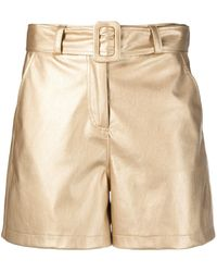 Liu Jo High-rise Metallic Shorts