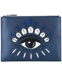 KENZO A4 Kontact Eye クラッチバッグ - ブルー