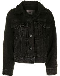 Juun.J Shearling Trucker Jacket - Black