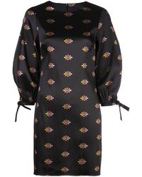 Cynthia Rowley Nathalie ジャカード ドレス - ブラック