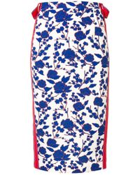 Pinko フローラル スカート - ブルー