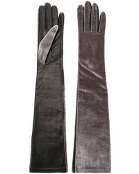 Manokhi Long Length Gloves - Black