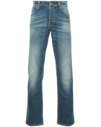 Nudie Jeans - Gerade Jeans mit Waschung - Lyst