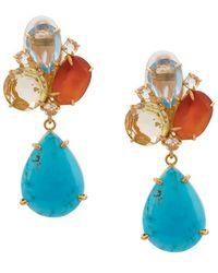 Bounkit Boucles d'oreilles pendantes - Bleu