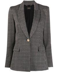 Liu Jo ヘリンボーン シングルジャケット - ブラック