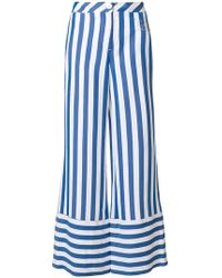 Love Moschino - Striped Palazzo Trousers - Lyst