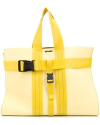 Sunnei Buckled Tote Bag - Yellow