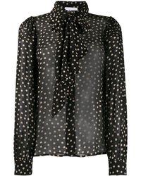 Ganni Shirt Met Stippen - Zwart