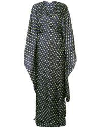 Vionnet Printed Maxi Wrap Dress - Blue