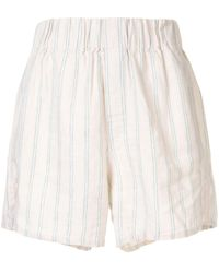 Venroy Striped Summer Shorts - Brown