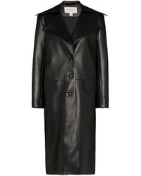 Matériel Leather Effect Trench Coat - Black