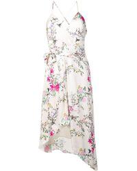 Equipment Robe asymétrique à fleurs - Blanc