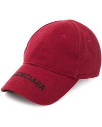 Balenciaga Gorra con logo bordado - Rojo