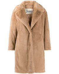 Herno Faux Fur Coat - Natural