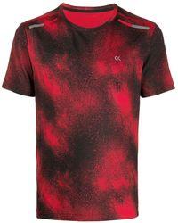 Calvin Klein T-shirt Met Print - Rood