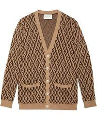 Gucci Vest Met G Patroon - Bruin