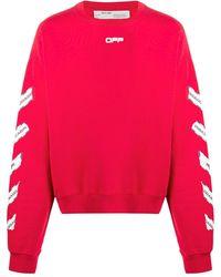 Off-White c/o Virgil Abloh Sweater Met Print - Rood