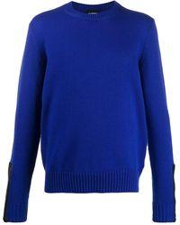 Les Hommes クルーネック セーター - ブルー