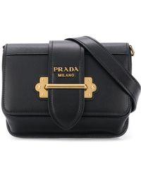 7df22d952c Lyst - Prada Classic Logo Belt Bag in Black