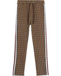 Burberry Monogram Stripe Trackpants - Brown